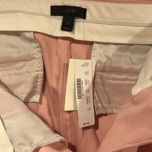 JCrew NWT size 12 soft pink above-ankle flare crop